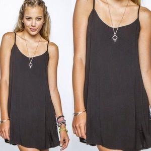 Brandy Melville/ Jgalt black slip dress